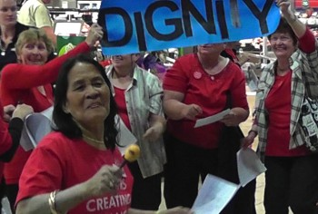 Seniors Creating Change flash mob the Charters Towers Shopping Centre in 2012